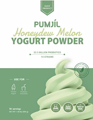 Soft serve ice cream mix, Pumjil Probiotic Soft Serve Mix, Ideal for Frozen Yogurt and Smoothies, Honeydew Flavor (59 servings per box)