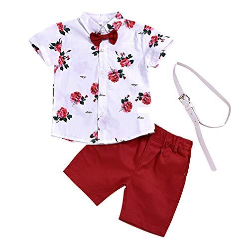 AmzBarley Bebé Niños Pequeño Camiseta Bermudas Conjuntos Camisa de Manga Corta Pantalones Trajes Atuendos Set de Ropa Dos Piezas Algodón