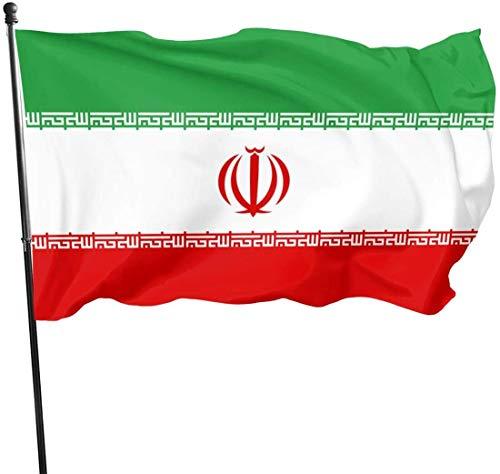 Viplili Banderas Weather Resistant Iran Flag Garden Flag, Game Flag - 3 X 5 Ft
