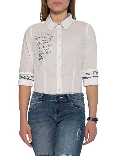 SOCCX Damen Bluse mit All Over Print