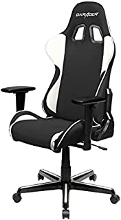 DXRacer FH11/NW Black White Formula Series Racing Bucket Seat Office Chair Gaming Ergonomic with Lumbar Support