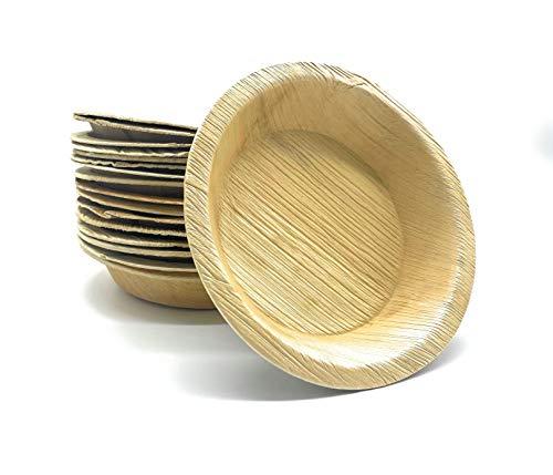Pure Dishes - Umweltfreundliches Palmblattgeschirr - Palmblattteller - 100{d0dec91f9a5c193c86cca397f7adcad3a38ab9e659b7f181602bcd2d26d49ed9} biologisch abbaubar – Biogeschirr - Einweggeschirr - Einwegteller - Wegwerfgeschirr - Partygeschirr (25, 15x15 cm)