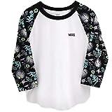 Vans Camiseta, Blanco-Califas Negro, M para Mujer