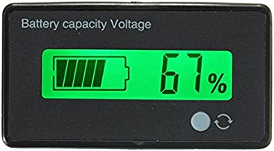 12V/24V/36V/48V 8-70V LCD Acid Lead Lithium Battery Capacity Indicator Digital Voltmeter