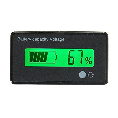 Ils - 12V/24V/36V/48V 8-70V LCD Blei-Säure-Lithium-Batterie-Kapazitäts-Anzeige Digital Voltmet