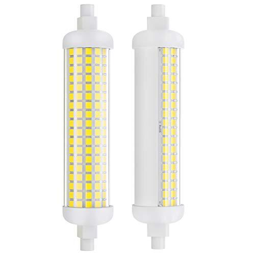 DiCUNO 2 Pezzi Lampadina LED R7s 118mm dimmerabile, 10W=lampada alogena 75W, 1100LM, Luce lineare con base R7s, Bianco freddo 5000K, 100-230V, Angolo del fascio 180 ° per faretto e applique