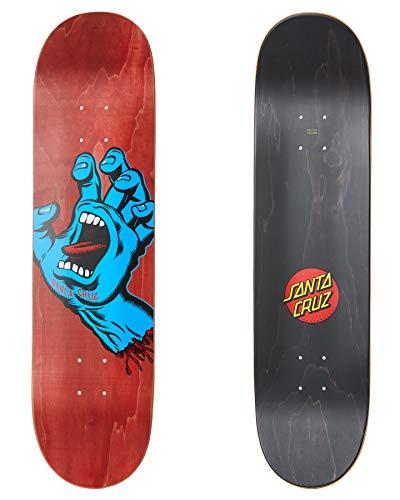 Santa Cruz Screaming Hand 8.0' skateboard deck red