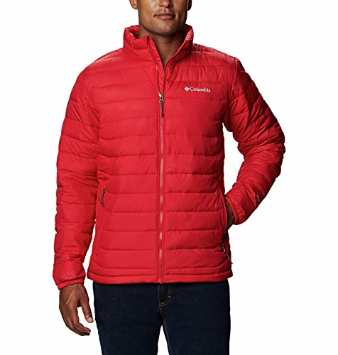 Columbia Chaqueta Powder Lite Jacket Powder Lite para hombre, Hombre, 1698004, Color rojo., 5X-Large-10X-Large Big Tall