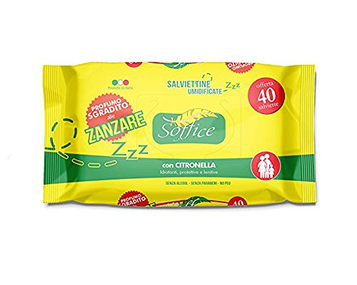 Palucart® marchio amazon Salviette antizanzare monouso 40 salviettine citronella imbevute 5 confezioni - 200pz