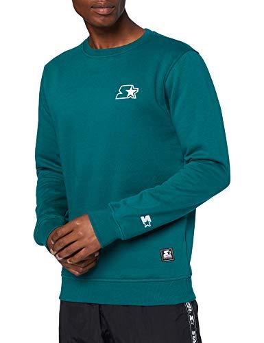 STARTER BLACK LABEL Herren Small Logo Crew Pullover, Retro Green, XL