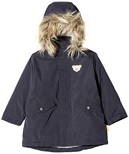 Steiff Baby-Mädchen Sweatshirt, Grau (BLACK IRIS 3032), 86 (Herstellergröße:86)