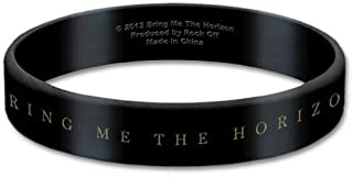 Bring Me The Horizon Black Wristband Gummy Rubber Bracelet Band Logo Official