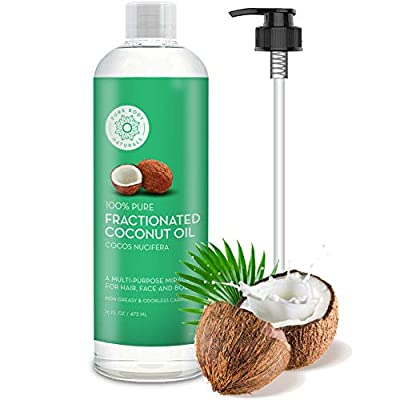 Premium Fractionated Coconut Oil 16 oz - Fine Coconut Oil Carrier Oil Massage Oil by Pure Body Naturals