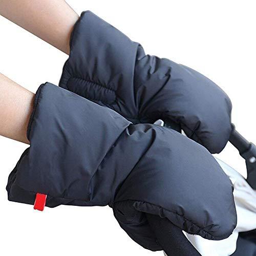 StillCool Kinderwagen Handschuhe Handmuff Handwärmer mit Fleece Innenseite, Wasserfest atmungsaktiv und windfest, Universalgröße für Kinderwagen Kinderwagenmuff Schwarz