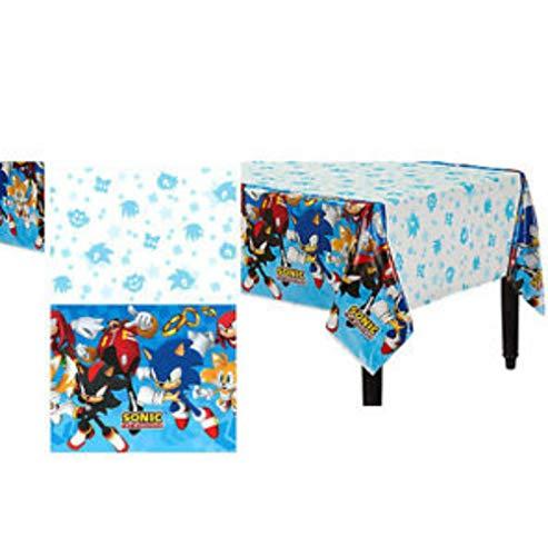 CAPRILO Lote de 2 Manteles Decorativos Infantiles Modern Sonic 120 x 180 cm. Juguetes y Regalos Fiestas de Cumpleaños, Bodas, Bautizos, Comuniones y Eventos. Decoración Hogar.