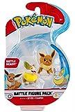 Pokémon Figuras de Batalla Eevee & Yamper 5 cm | Última Ola 2021 | con Licencia Oficial de Pokemon