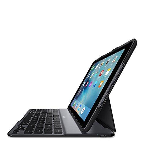 Belkin F5L190DEBLK QODE Ultimate Lite Bluetooth Tastatur mit Hülle (geeignet für iPad Air 2) schwarz