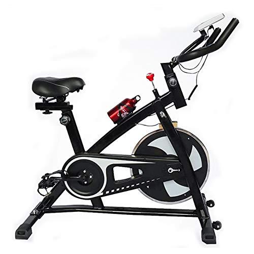 NFJ Bicicleta Indoor Spinning Ergonómica, Resistencia Regulable, Bici Entrenamiento Fitness con Sillín Ajustable, Pulsómetro Y Pantalla LCD