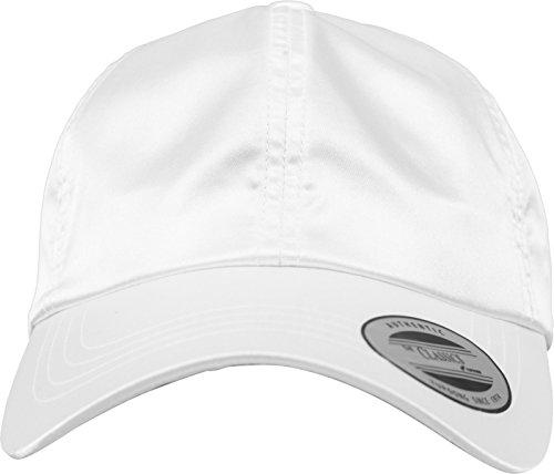Flex fit Low Profile Satin Cap White One Size Casquette Unisex-Adult