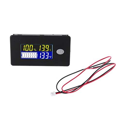 AXSWER Voltmeter Digital LED 10-100V Batteriekapazitätsanzeige Voltmeter Universal Batterietester
