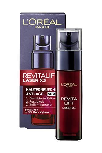 L'Oréal Paris Revitalift Laser X3 Anti-Age Serum mit Hyaluronsäure, 3-fach Anti-Aging Wirkung, spendet Feuchtigkeit und mildert sichtbar Falten, 30 ml