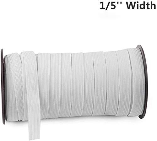 Aijoy Elastisch koord, elastisch koord, katoen, stretch-elastisch, voor handwerk, knutselen, naaien, maskers en oorbel, zwaar gebreid