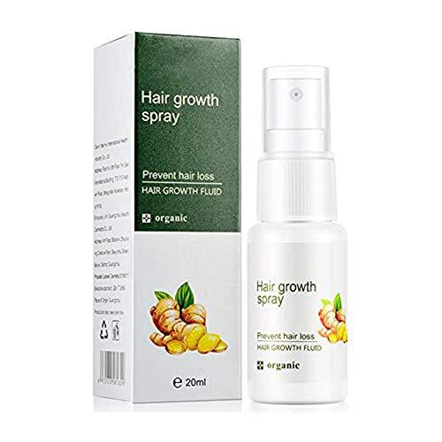 REGROWTH GINGER SPRAY 20ML - Croissance rapide des cheveux Sérum de gingembre repousse dense, soins capillaires anti-chute, pour hommes et femmes de tous types de cheveux