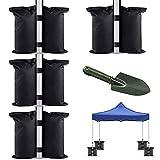 Pavillon-Sandgewichte, 4 Stück, robust, doppelt genäht, Sand-Gewichtssäcke, Beingewichte für Pop-Up-Zelte, Sonnenschirme, Trampoline, Hinterhof, Terrassenzelte, gewichtete Füße (mit 1 Schaufel)