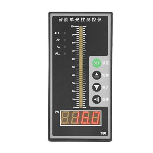 Pantalla,T80 AC220V 4-20mA Columna luminosa Pantalla Contorller de presión inteligente Transmisor de nivel Instalación fuerte y uso fácil