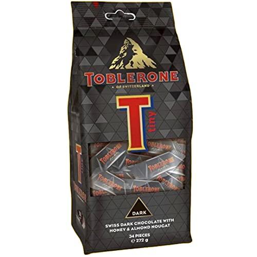 Toblerone Swiss Dark Chocolate with Honey & Almond Nougat 34 Pieces Pouch, 272 g