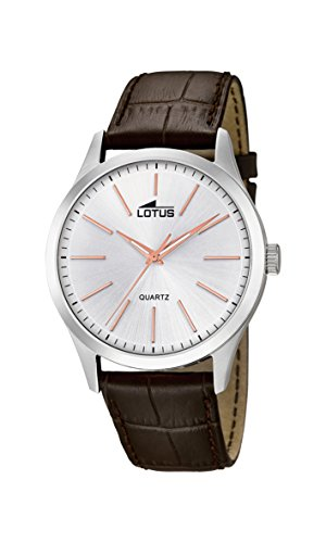 Lotus Watches Reloj Análogo clásico para Hombre de Cuarzo con Correa en Cuero 15961/6