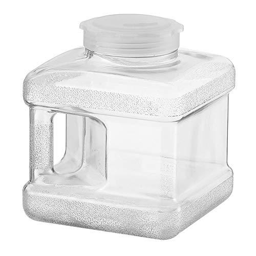CHAMAIR Bidón de agua, recipiente de agua, cubo portátil de 5 litros, cubo de agua transparente, para té, bebidas, agua (8,27 x 7,48 x 7,48 cm)
