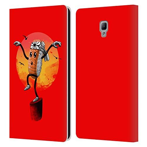 Head Case Designs Offizielle Vincent Trinidad Karate Sushi Radikalische Grafiken Leder Brieftaschen Huelle kompatibel mit Samsung Galaxy Tab A 8.0 2017