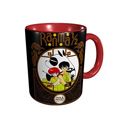 IUBBKI Ranma 1/2 Tazas Comics Anime Tazas de café Novedad Regalo Taza de café de cerámica Tazas de café de viaje para el hogar Verde