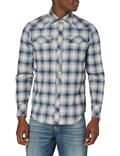 G-STAR RAW 3301 Slim Camicia, Multicolore (Imperial Blue Jack Check C417-B772), XS Uomo