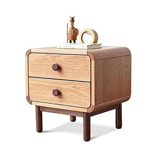 WYKDL Mesa de mesita de Noche,Vestido de Mesa de Mesa de mesas de Alerta de Madera Maciza for Dormitorio y Sala de Estar (Color:Color de Madera)