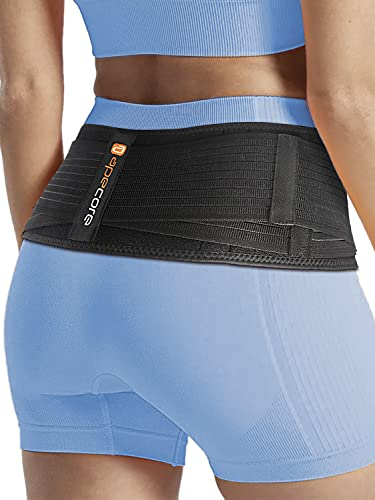 Sacroiliac Si Hip Belt - Immediate Relief for Sciatica, Pelvic, Lower Back, Lumbar and Leg Pain. Si Joint Support for Women and Men. Anti-Slip Sciatic Nerve Brace