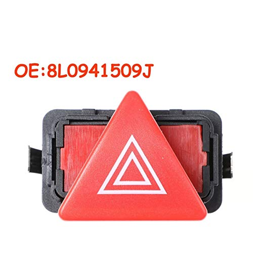 Mrwzq Interruptor de la Ventana del Lado del Conductor 8L0941509J Riesgo Ligero de Advertencia Interruptor Fit Flash for Audi A3 8L MK 1 1996-2001 Accesorios for el Coche