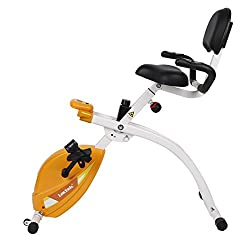 20cc92933ac U1 Under Desk Bike is a foldable exercise bike that can accommodate users up  to 240 lbs in weight. It has a big, comfortable seat and also backrest, ...