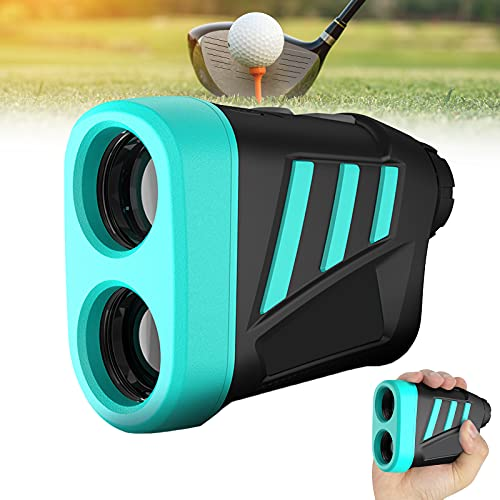 EnweMahi Rangefinder Laser Golf,Telemetro Caza 600M Aumento 6X,Carga USB(1000Mah) Medidor Distancia con Compensación Balística Golf, Función Bloqueo Asta Bandera para Aire Libre