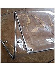 GWZSX 0.5mm PVC Lona Transparente Impermeables Tarea Pesada Lona De Protección Exterior A Prueba De Viento Lona Cubierta Toldos de Plantas Cubierta De Tablero