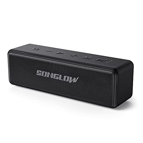 Enceinte Bluetooth Portable Surround Stéréo: SONGLOW Enceinte Bluetooth Puissante à égalisation Individuelle 30W, Étanche IPX7 pour Piscine & Plage - Temps de Lecture 12 hrs