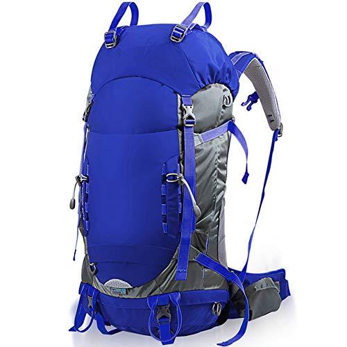 Voyage Randonnée Sac à Dos Trekking Alpinisme Escalade Sac à Dos de Camping pour Hommes Femmes FENGMING (Couleur : Bleu, Taille : 60L+5L)