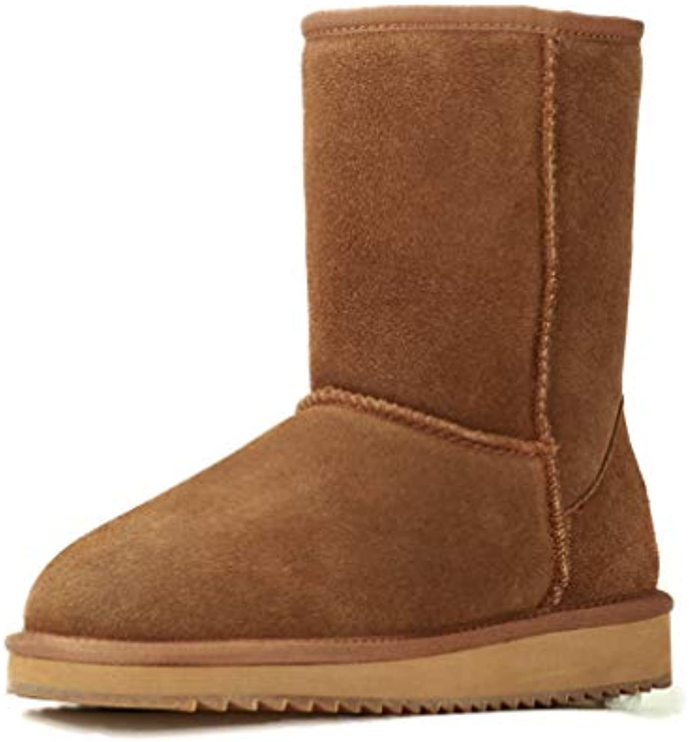 T-JULY New Wool Snow Boots Women Comfortable Winter Boots Females Fashion Boots with Fur Genuine Leather Women shoes