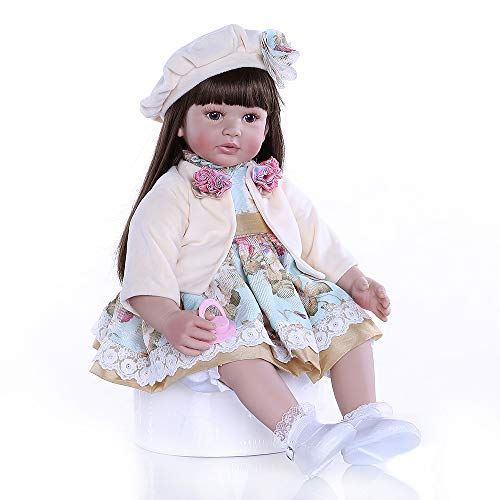 Zero Pam Reborn Babypuppe, 60 cm, lebensecht, weiche Körperpuppe, realistische Kinderpuppen, tolles Geschenk