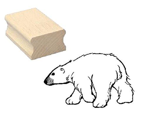 Stempel comic EISBÄR - Motivstempel aus Buchenholz