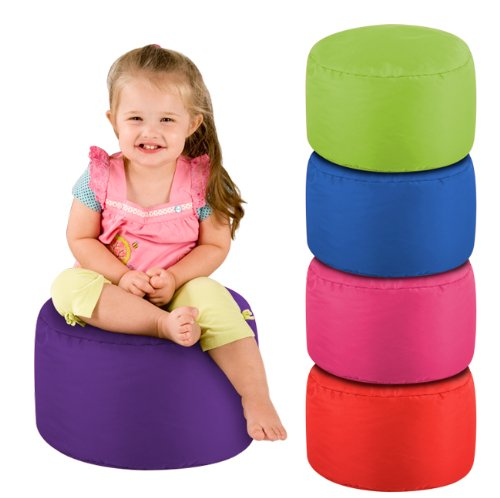 Bean Bag Bazaar Set bestehend aus 5 Sitzsäcken für Kinder – 5 Kinder Sitz Hocker in Multi - Indoor & Outdoor Sitz Säcke