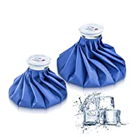 Ice Bag Packs of 2 - Reusable Hot & Cold Packs in 2 Sizes (9/11 inches) by SWISSELITE