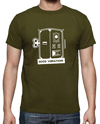 tostadora - T-Shirt Gute Schwingungen - Manner Armeegrün S