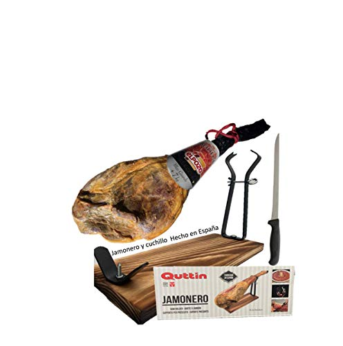Jamón Serrano Bodega 7 kilos + Jamonera de madera
